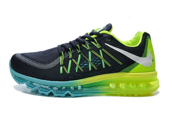 Womens Nike Air Max 2015 Black Green Blue Discount
